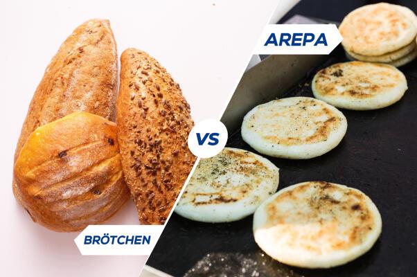 Arepas vs. glutenfreie Brötchen -